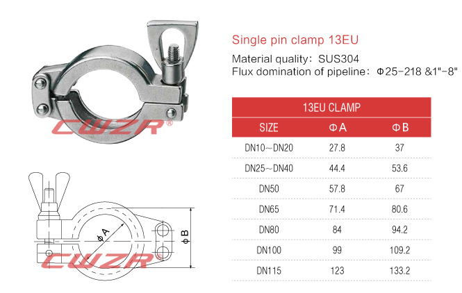 Double pin clamp 13EU